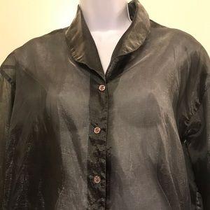 Vintage ESPRIT  metallic buttoned blouse size S